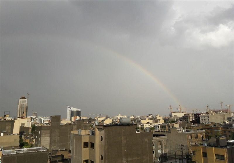 تمام رهاورد یک باران تابستانی در مشهد؛ «رنگین کمان، آبگرفتگی و آسیبدیدن درختان»
