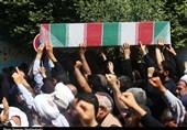خوزستان| پیکر پاک شهید مدافع امنیت در شوش دانیال تشییع شد