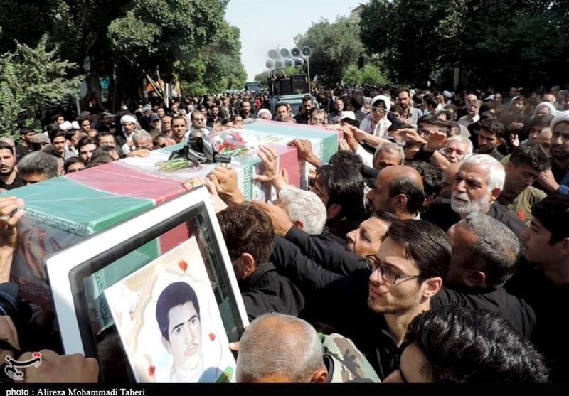 مراسم تشییع پیکر شهید میرزایی در کاشان برگزار شد