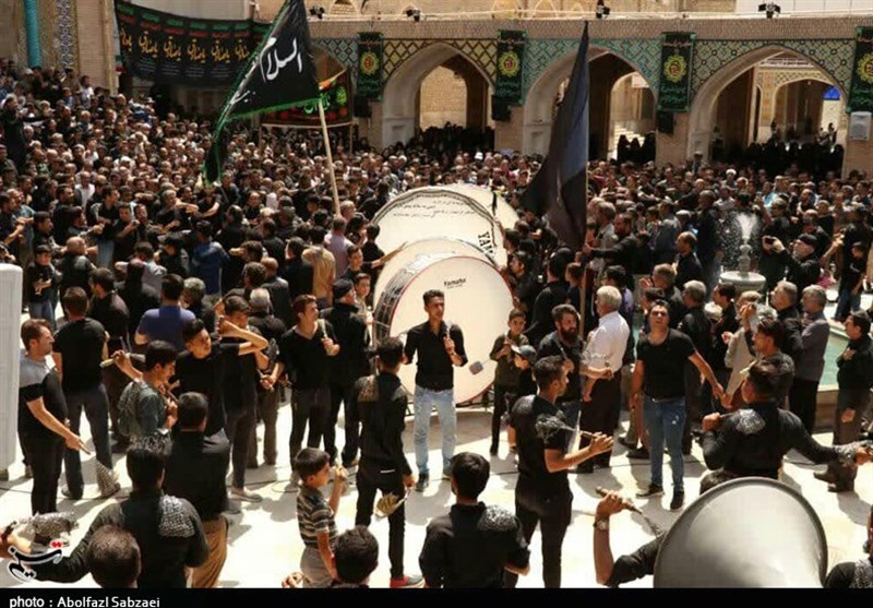 مراسم شهادت امام صادق(ع) در مشهد اردهال کاشان برگزار شد+تصاویر
