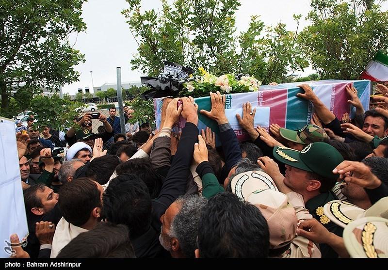 کردستان|پیکر مطهر پاسدار «شهید احمدی» در قروه تشییع شد