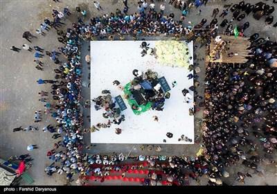 مراسم تشییع و تدفین دو شهید گمنام - هرمزگان