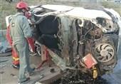مرگ راننده پژو 206 پس از تصادف شدید با تیبا + تصاویر