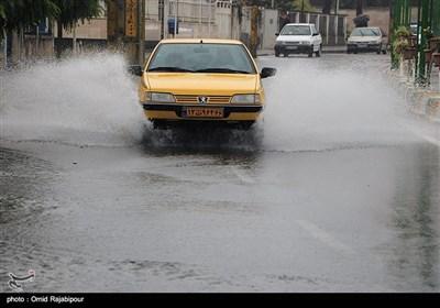 بارش شدید باران و آبگرفتگی معابر - رودسر