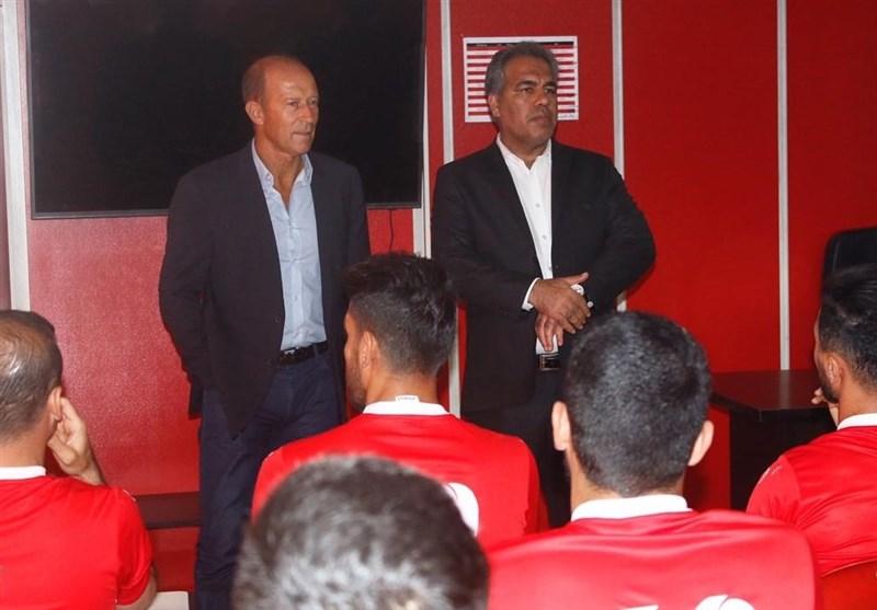 دیدار عرب با کالدرون و بازیکنان پرسپولیس در اردو
