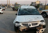 تهران| واژگونی خونین L90 در جاده خاوران + تصاویر