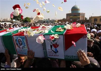 استقبال و تشییع دو شهید دوران دفاع مقدس در قزوین