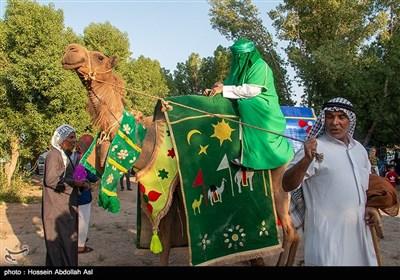 آئین نمادین ورود کاروان امام رضا (ع) به ایران -خرمشهر
