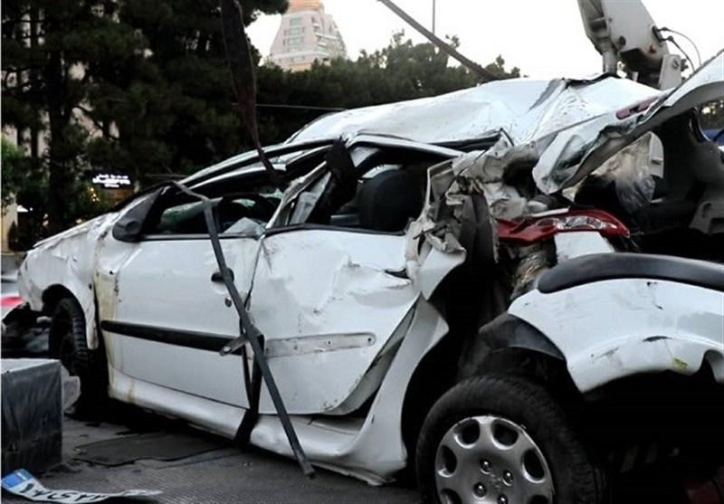 تهران| فرار راننده 206 پس از واژگونی مرگبار تویوتا + تصاویر