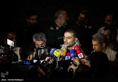 سردار غلامرضا سلیمانی رئیس جدید سازمان بسیج مستضعفین در جمع خبرنگاران