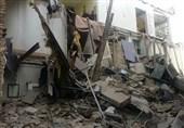 تهران| نجات 4 نفر از زیر آوار ساختمان قدیمی + فیلم و تصاویر