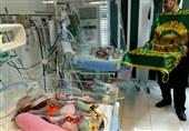 کاروان خدام رضوی از کودکان بیمارستان محمد کرمانشاهی عیادت کردند