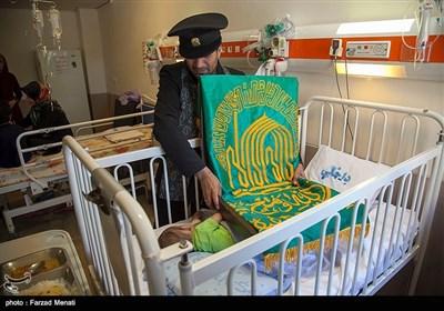 کاروان زیر سایه خورشید در بیمارستان کودکان - کرمانشاه