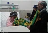 خادمان حرم امام رضا(ع) از بیماران 2 بیمارستان در کرمانشاه عیادت کردند