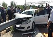 تهران| نجات معجزهآسای سرنشینان MVM پس از ورود گاردیل به خودرو + تصاویر
