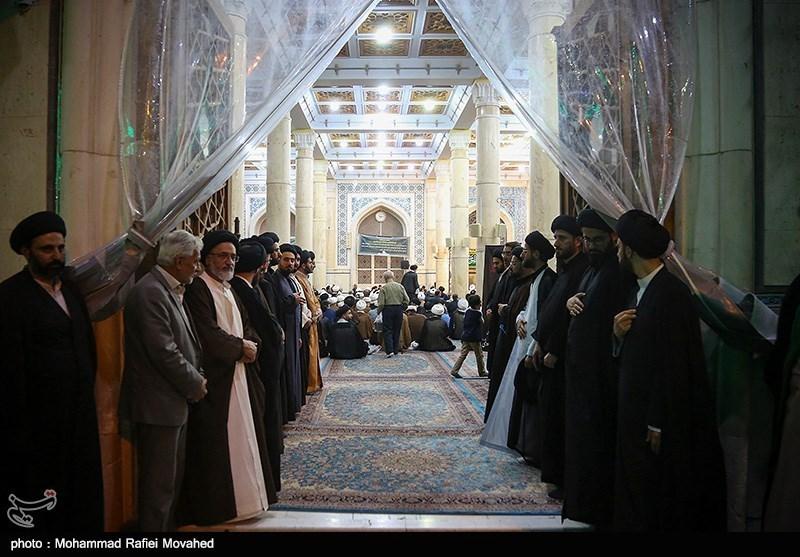 مراسم ارتحال آیتالله حسینی شاهرودی در مسجد اعظم