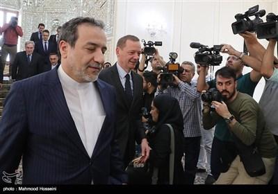 «امانوئل بون» مشاور رئیسجمهوری فرانسه و عباس عراقچی