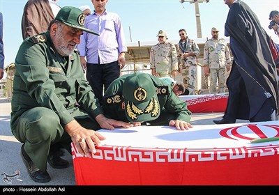 ورود پیکر 44 شهید تازه تفحص شده به کشور- شلمچه