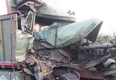 تهران| مچاله شدن اتاقک کامیون پس از تصادف خونین + تصاویر
