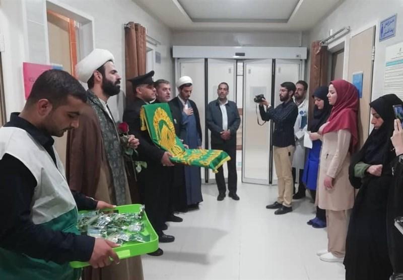 خادمان آستان قدس رضوی از بیماران بوشهری عیادت کردند + تصاویر