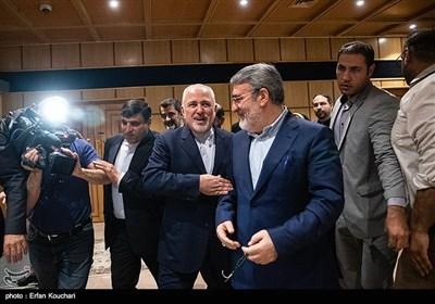 عبدالرضا رحمانی فضلی وزیرکشور و محمدجواد ظریف وزیر امور خارجه در همایش فرمانداران سراسر کشور