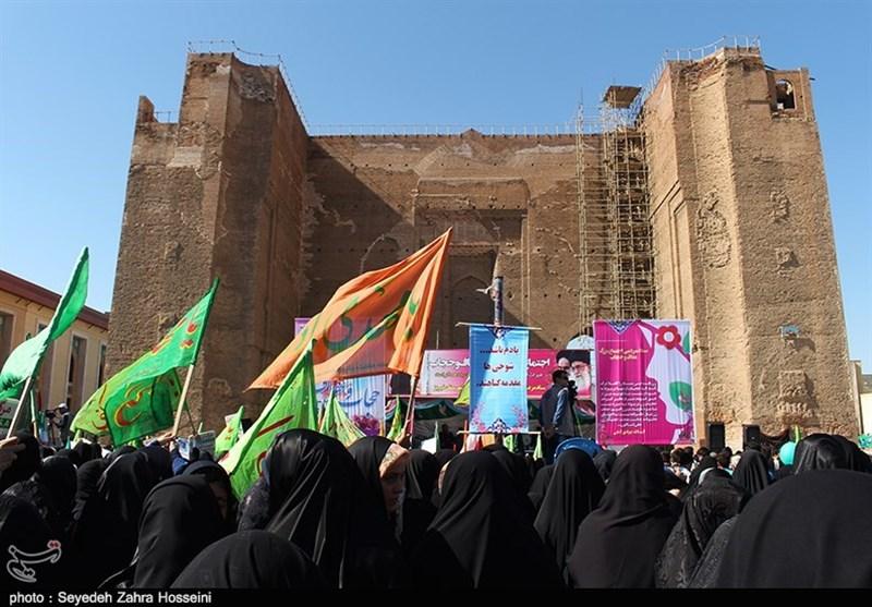 دفاع تمام عیار بانوان تبریز از عفاف و حجاب به روایت تصویر