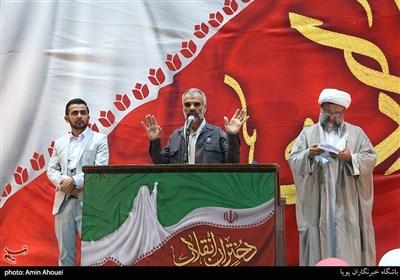 سخنرانی پدر شهید محمدحسن خلیلی در اجتماع عظیم دختران انقلاب-تهران