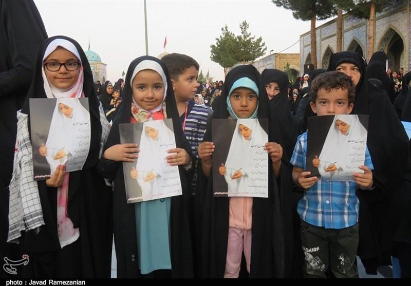 روایت تصاویر از تجمع بزرگ حافظان حریم خانواده در دامغان