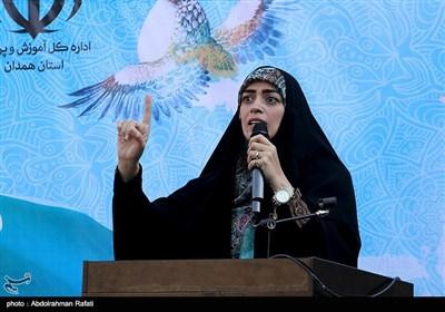 سخنرانی الهام چرخنده در اجتماع بزرگ مردمی عفاف و حجاب