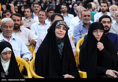 الهام چرخنده در اجتماع بزرگ مردمی عفاف و حجاب