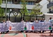 تجمع کارگران ترکیه مقابل سفارت ترکمنستان در آنکارا