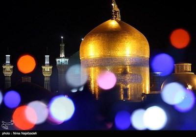 مرقد الامام علي بن موسى الرضا علیه السلام فی لیلة مولده