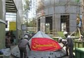 """دمونتاژ قطعات """"گنبد جدید حرم امام حسین(ع)"""" در ایران برای انتقال به کربلا + گزارش تصویری"""