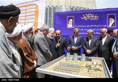 فاز بخار نیروگاه سیکل ترکیبی شیروان با قدرت تولید ۳۲۰ مگاوات برق با حضور رئیسجمهور افتتاح شد.