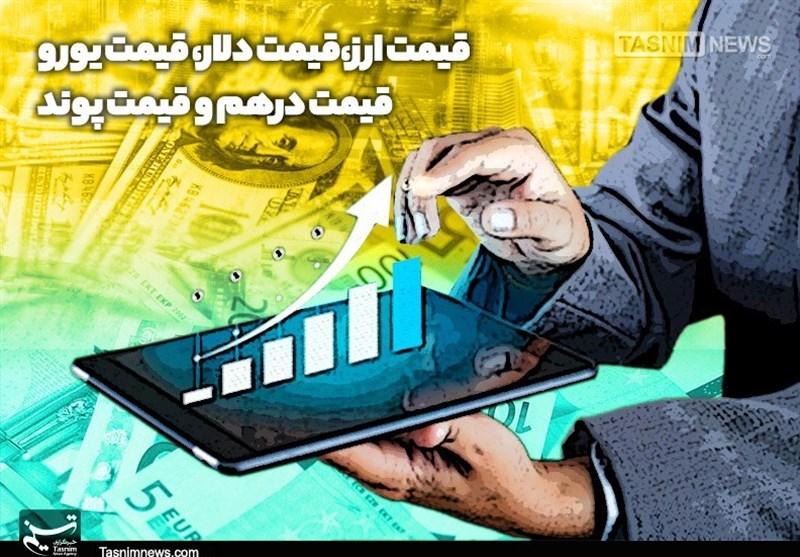 قیمت ارز| قیمت دلار، قیمت یورو، قیمت درهم و قیمت پوند امروز98/06/20