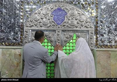 پیوند آسمانی هشت زوج معلول در امامزاده صالح(ع)