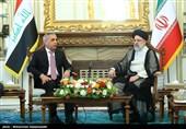 آیة الله رئیسی یستقبل رئیس مجلس القضاء الأعلى العراقی+صور
