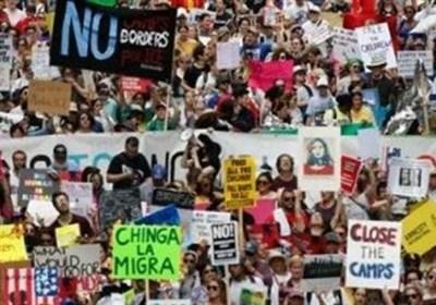 امریکا: تارکین وطن کے خلاف کریک ڈاؤن شروع؛ ڈونلڈ ٹرمپ کے خلاف مظاہرے