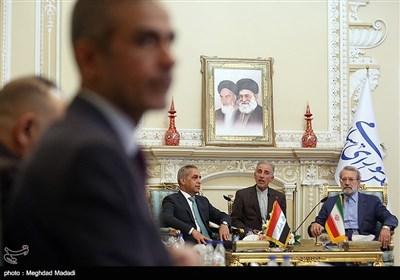 دیدار رئیس شورای عالی قضائی عراق با لاریجانی