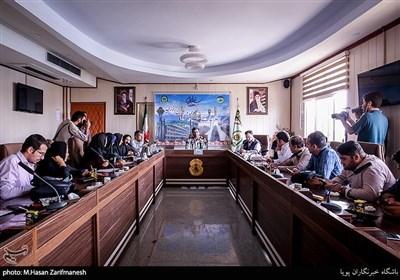 نشست خبری سردار علی ذوالقدر رئیس پلیس امنیت عمومی پایتخت