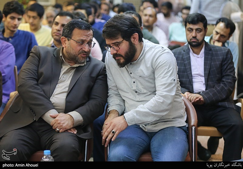 مجتبی امینی تهیه کننده سریال گاندو و حمیدرضا مقدم فر مشاور رسانه ای فرمانده سپاه پاسداران