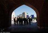 اردبیل|حضور رئیس سازمان بسیج مستضعفین در گلزار شهدا و منزل شهید مدافع حرم+ تصاویر
