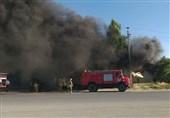 کردستان|کارخانه فیبر مریوان در آتش سوخت