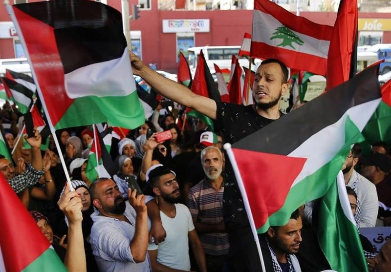 اخبار کوتاه از لبنان| ادامه اعتراضات آوارگان فلسطینی/خروج باسیل از محل سخنرانی کاتس