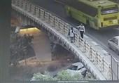 تهران| نجات یک دختر جوان از خودکشی از روی پل هجرت + تصاویر