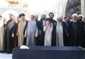 مراسم تشییع پیکر آیت الله حقانی در قم برگزار شد