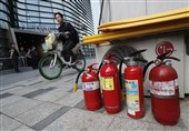شهروند کره جنوبی خود را مقابل سفارت ژاپن به آتش کشید