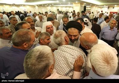 حجت الاسلام والمسلمین سیدعبدالفتاح نواب نماینده ولی فقیه در امور حج و زیارت در مدینه منوره در جمع زائران ایرانی