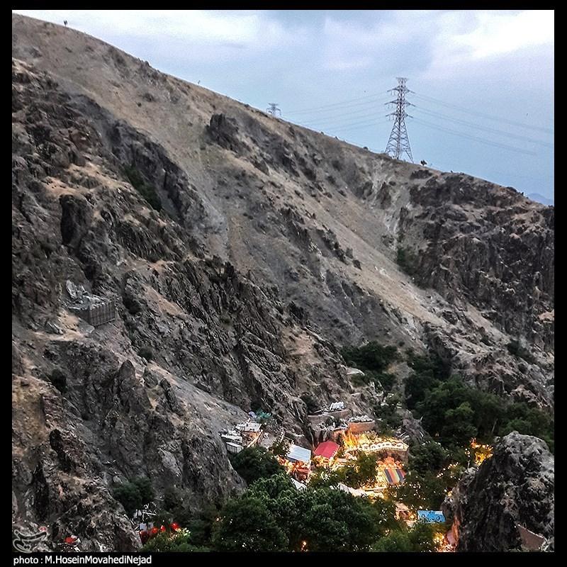 نمایی از منطقه دربند تهران