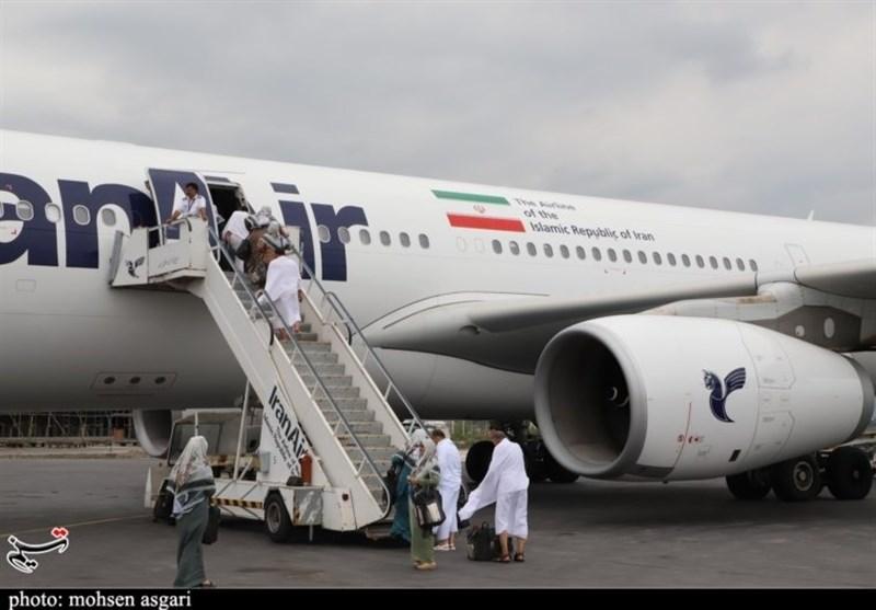 نخستین پرواز زائران حج تمتع از کرمانشاه امروز انجام شد